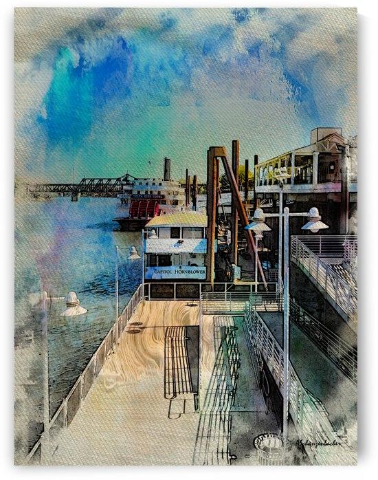 Old Sacramento Waterfront Pier by Aurelia Schanzenbacher Sisters Fine Arts