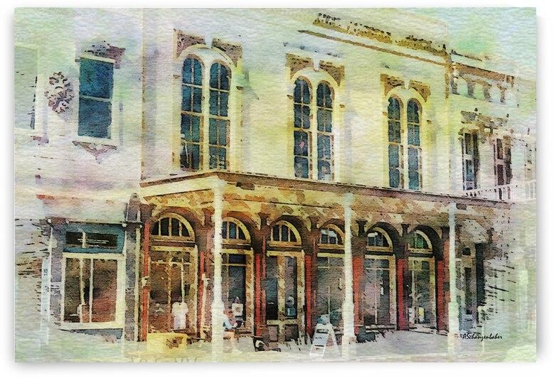 Old Sacramento Waterfront Boardwalk Building by Aurelia Schanzenbacher Sisters Fine Arts