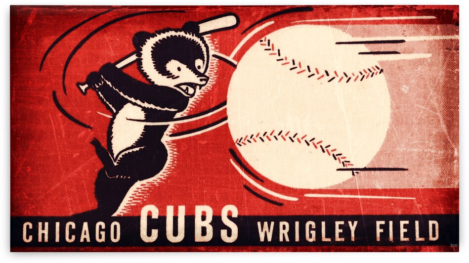 1941 Chicago Cubs Art Remix by Row One Brand