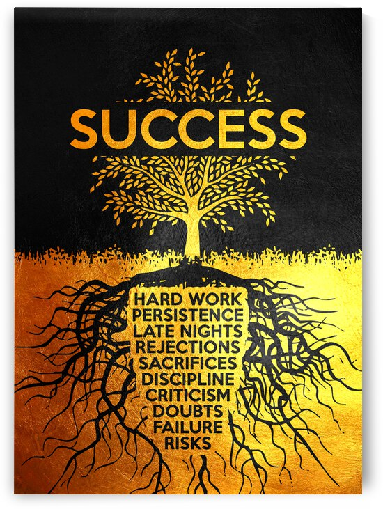 Success Tree Motivational Wall Art by ABConcepts