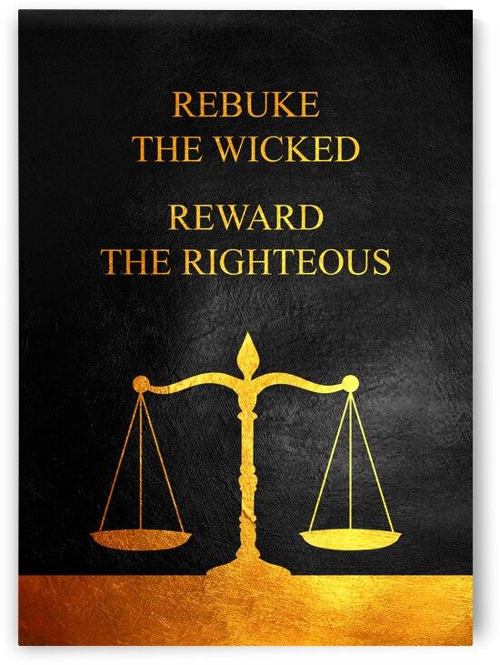 Rebuke and Reward Motivational Wall Art by ABConcepts