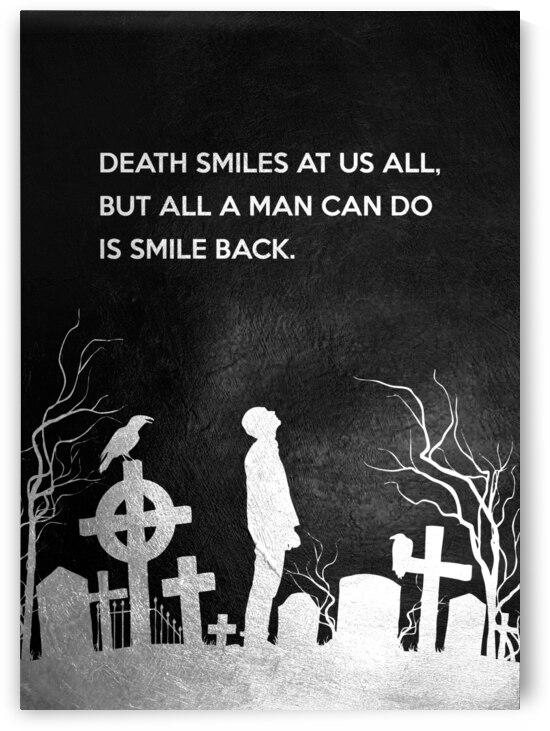 Smile at Death Motivational Wall Art by ABConcepts