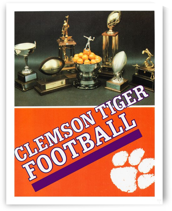 1983 Clemson Football Poster by Row One Brand