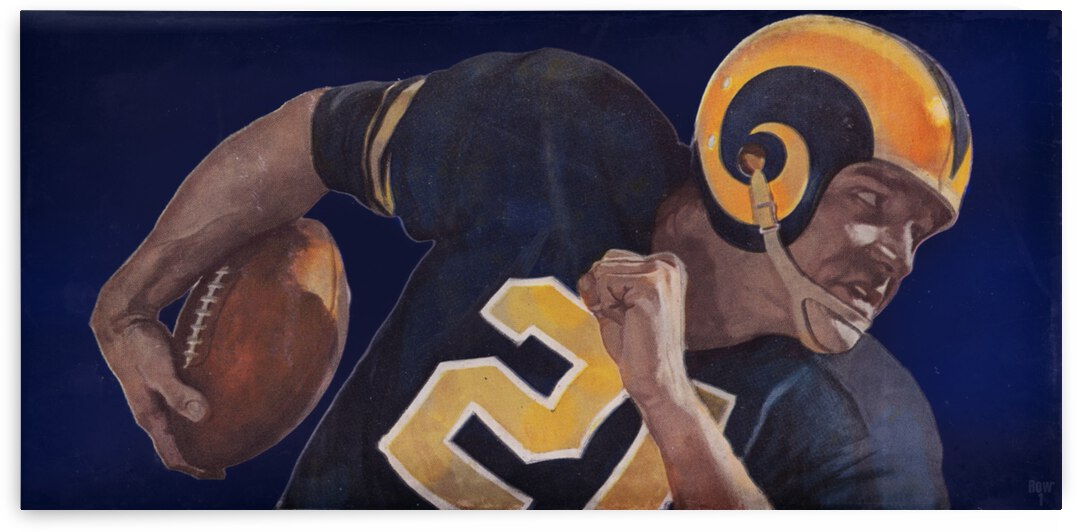 1959 LA Rams Vintage Football Art by Row One Brand