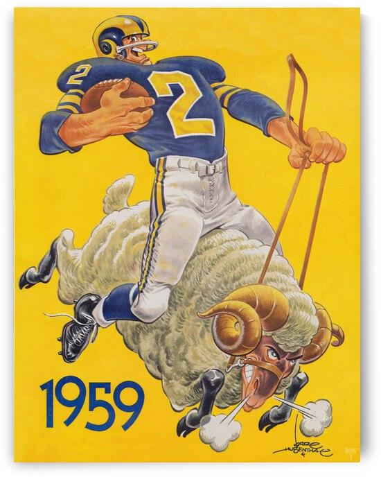 1959 LA Rams Karl Hubenthal Art by Row One Brand
