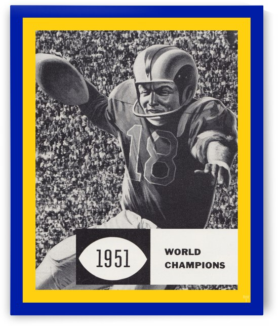 LA Rams 1951 World Champions Art by Row One Brand