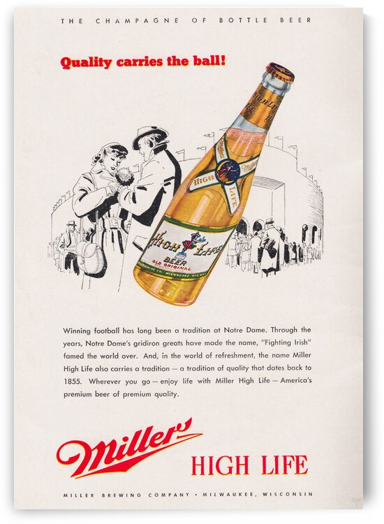 1947 Miller Beer Ad  by Row One Brand