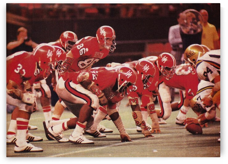 1977 UCLA vs. Houston Football Action by Row One Brand