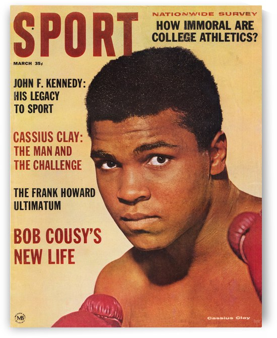 1964 Sport Magazine Muhammad Ali Cover by Row One Brand