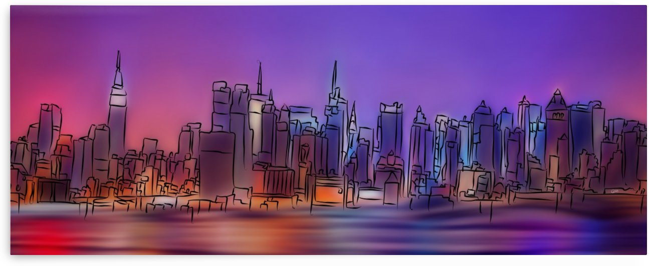 Yorkirius - Abstract skyline by Cersatti Art