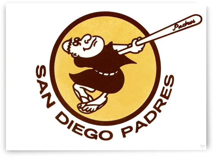1980 San Diego Padres Wall Art by Row One Brand