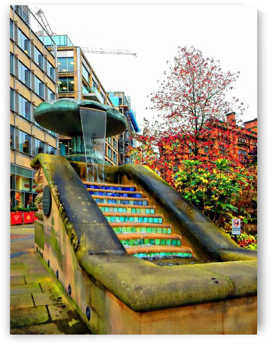 Sheffield Peace Gardens Fountain by Dorothy Berry-Lound