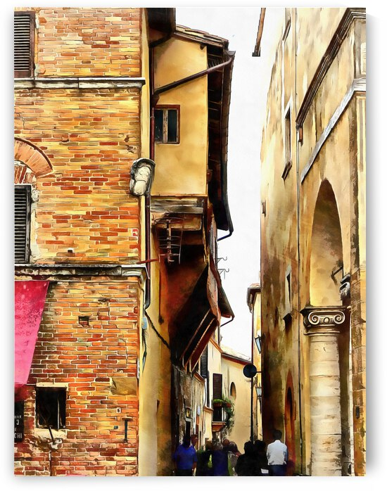 Squeezing Through in Pienza by Dorothy Berry-Lound