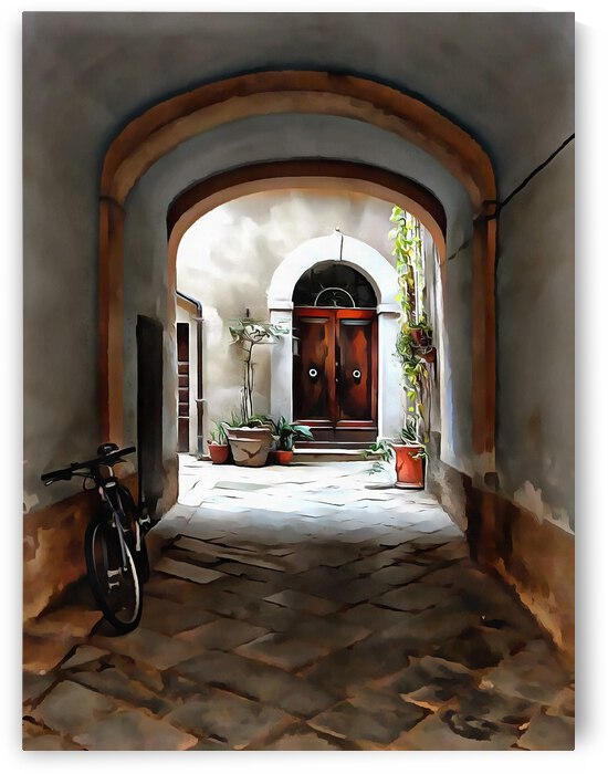 Through The Alley Pienza by Dorothy Berry-Lound