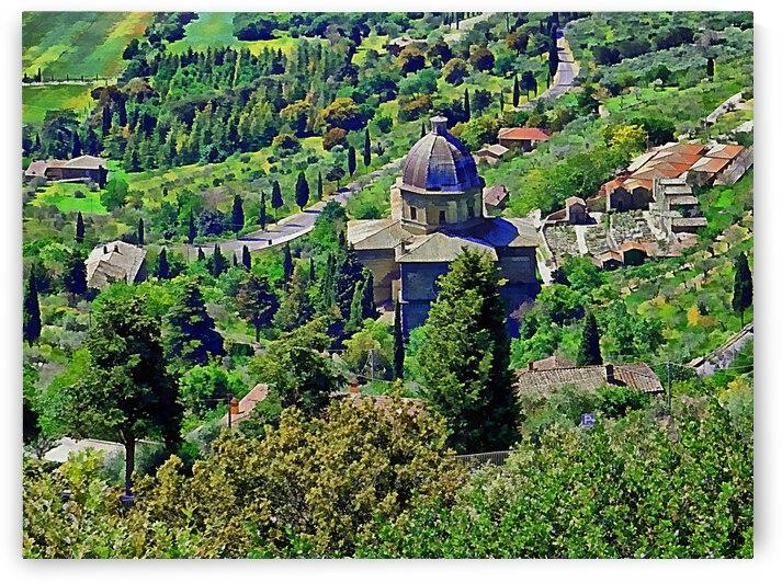 Chiesa Santa Maria delle Grazie Cortona by Dorothy Berry-Lound