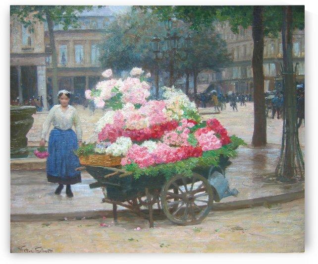The Flower Seller by Victor Gilbert