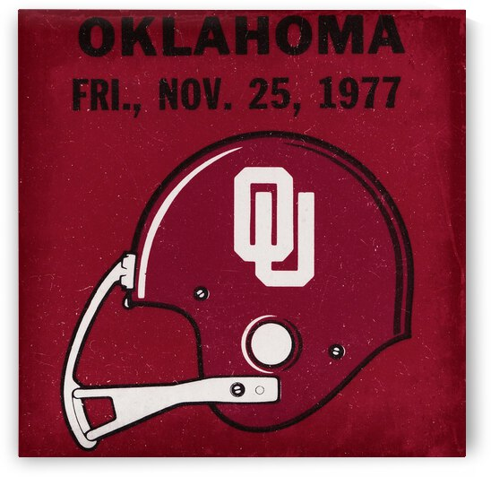 1977 Oklahoma Football Ticket Remix Row 1 by Row One Brand