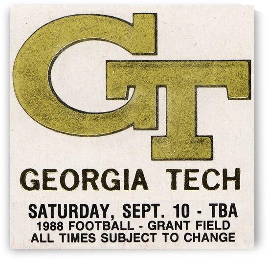 1988 Georgia Tech Football Ticket Stub Remix by Row One Brand