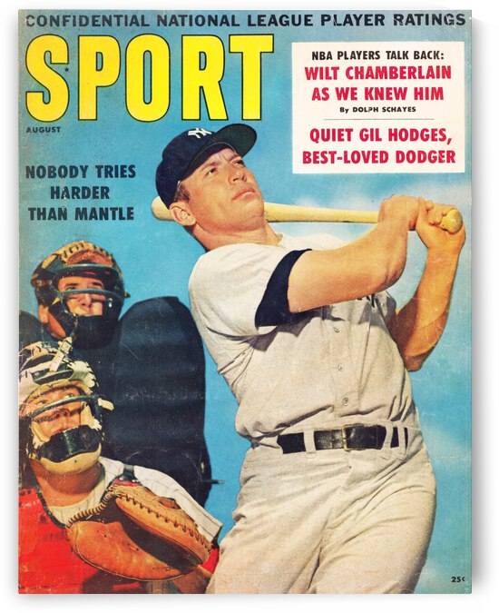 1960 Mickey Mantle Sport Cover Art by Row One Brand