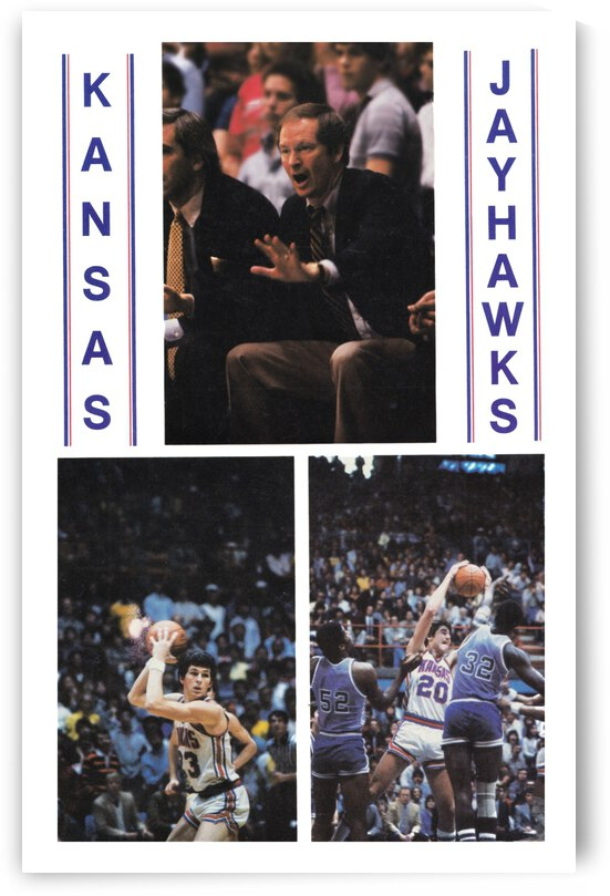 1982 Kansas Jayhawks Basketball Art by Row One Brand