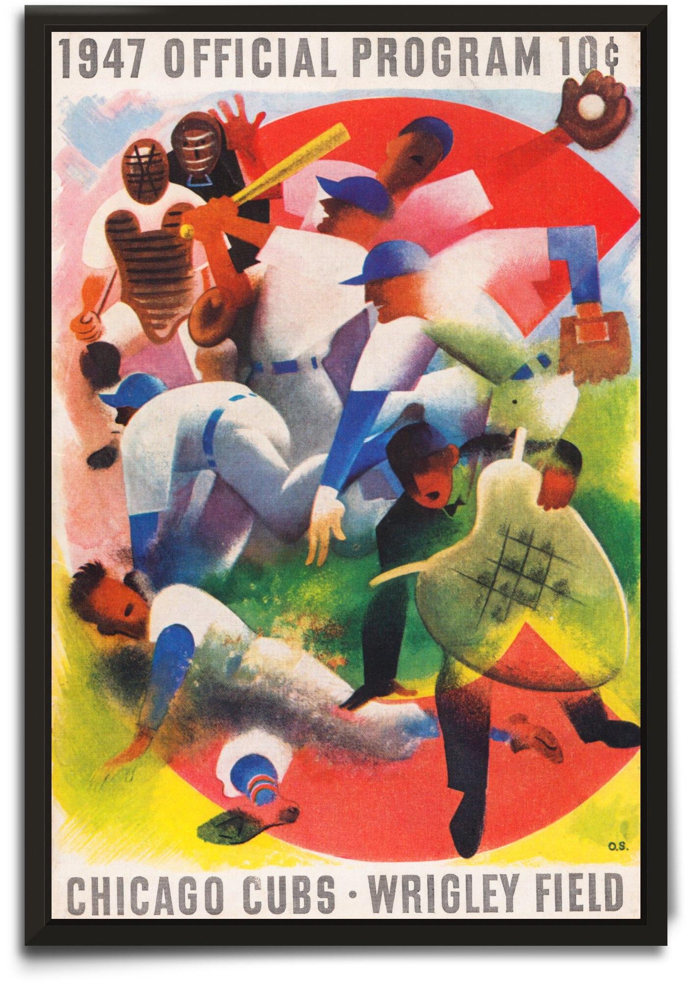 1947 Chicago Cubs Program Otis Shepard Art by Row One Brand