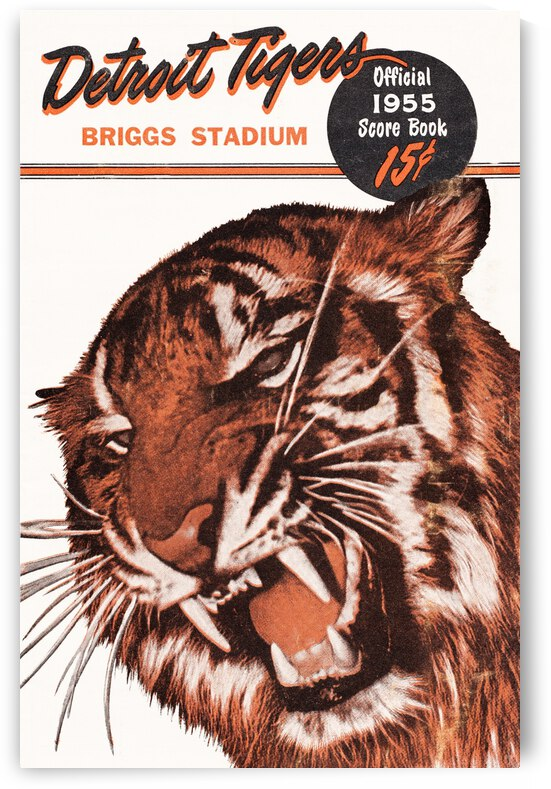 1955 Detroit Tigers Score Book Canvas by Row One Brand