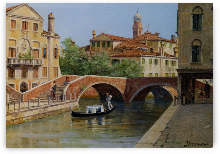 A Venetian Bridge by Antonietta Brandeis
