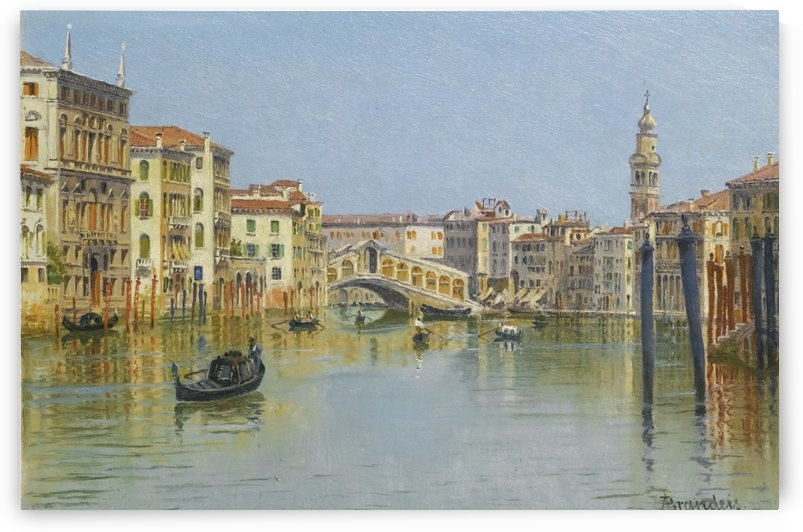 The Rialto Bridge, Venice by Antonietta Brandeis