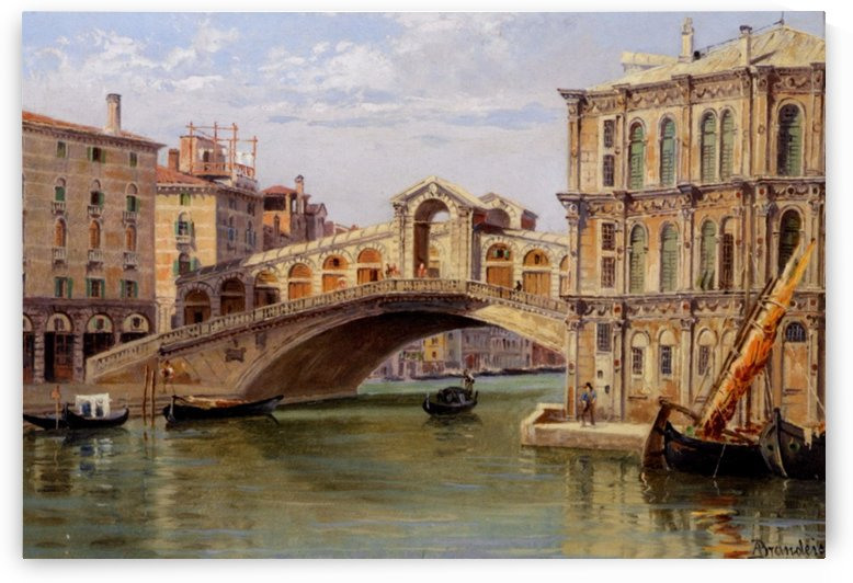 Rialto Bridge, Venice by Antonietta Brandeis
