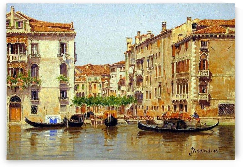 Traghetto Di Santa Maria Zobenigo, Venezia by Antonietta Brandeis
