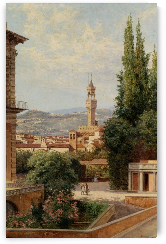 View of the Palazzo Vecchio in Florence by Antonietta Brandeis