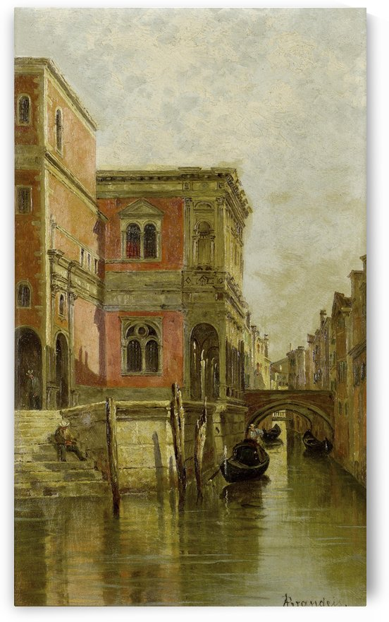 A Venetian canal by Antonietta Brandeis