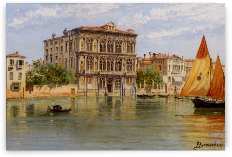 Palazzo Camerlenghi and the Ca Vendramin Calergi in Venice by Antonietta Brandeis