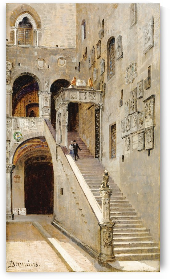 Staircase in the Inside Yard of Palazzo Vecchio in Florence by Antonietta Brandeis