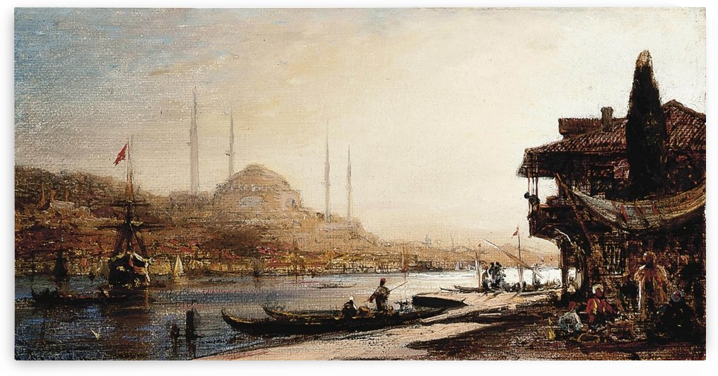 A view of Hagia Sophia across the Golden Horn, Istanbul by Antonietta Brandeis