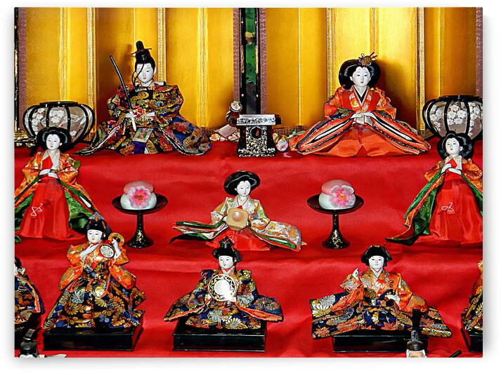 Japanese Doll Festival Detail by Dorothy Berry-Lound