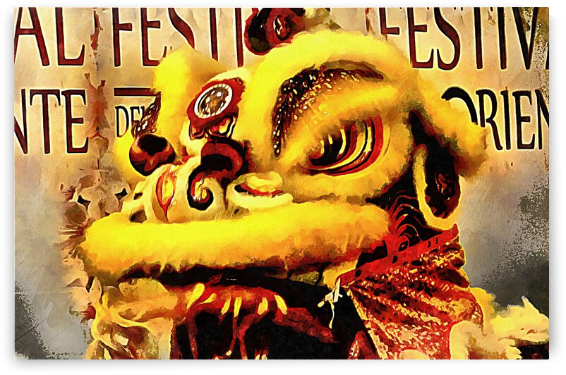 Yellow Lion Dancer by Dorothy Berry-Lound