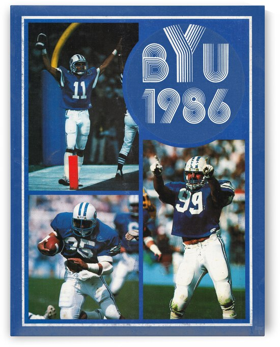 1986 BYU Cougars Football Art by Row One Brand