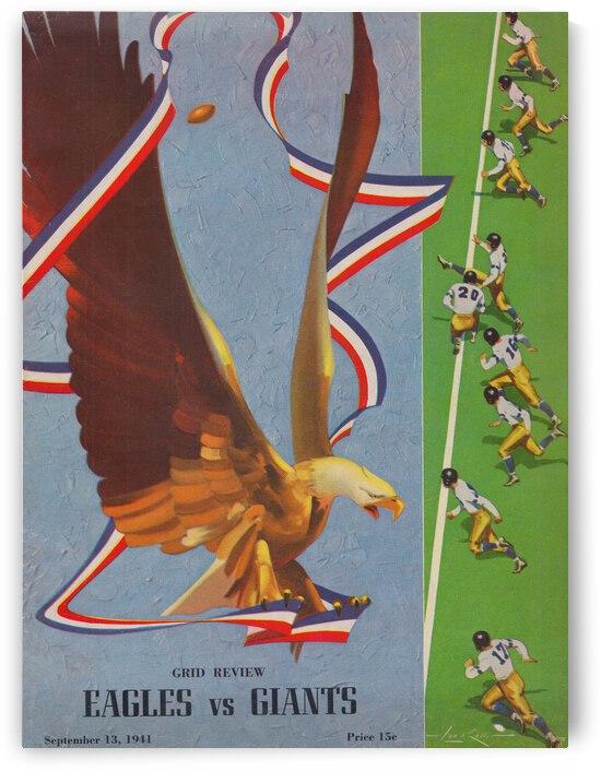 1941 Philadelphia Eagles vs. Giants by Row One Brand