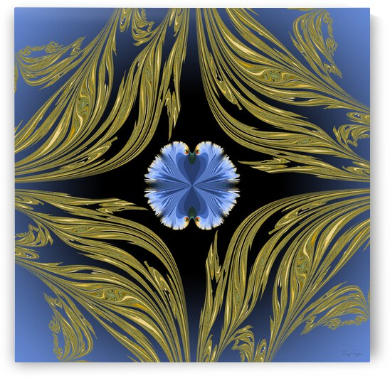Framed flower blue pansy by Ray Roza