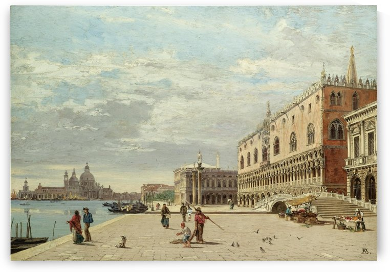 The Molo, Venice by Antonietta Brandeis
