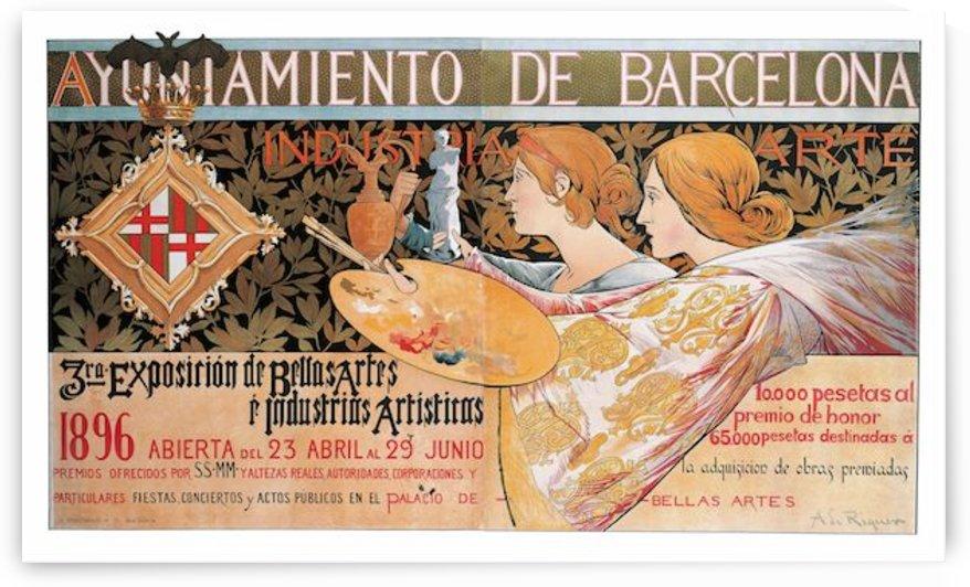 Alexandre de Riquer - 3rd exposicion de Bellas Artes by VINTAGE POSTER