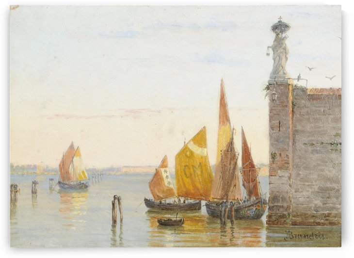 On the Lagoons, Venice by Antonietta Brandeis