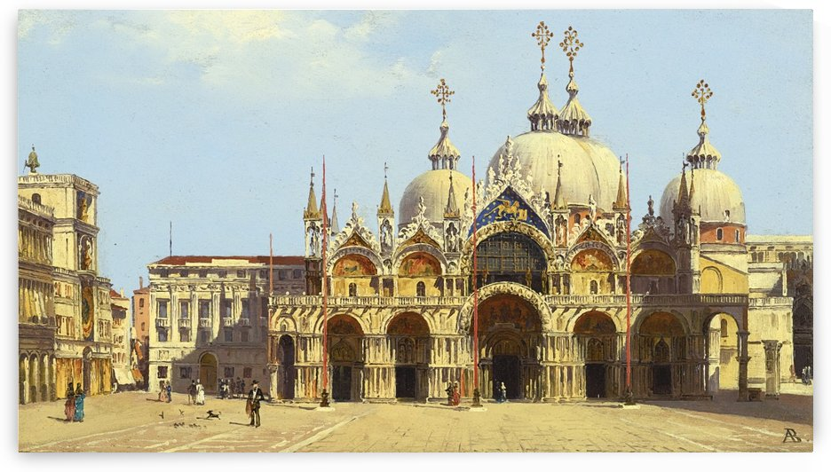 Saint Mark Square, Venice by Antonietta Brandeis