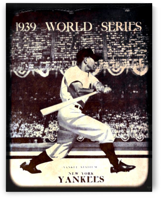 1939 Vintage World Series Program Cover Art Remix by Row 1 by Row One Brand