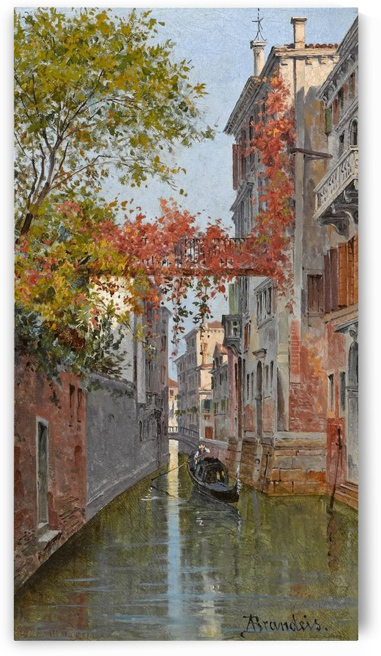 Along a canal in Venice by Antonietta Brandeis