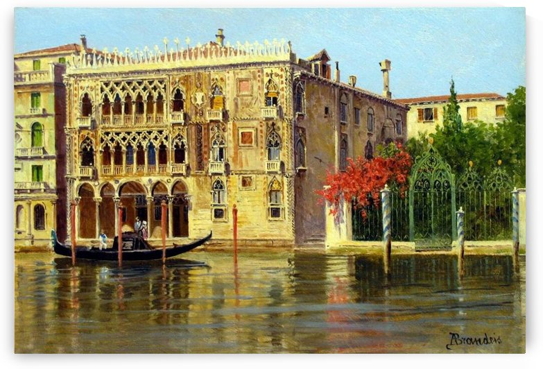 Along the Grand Canal in Venice by Antonietta Brandeis