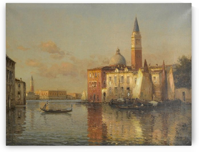 Evening on the Grand Canal, Venice by Antonietta Brandeis