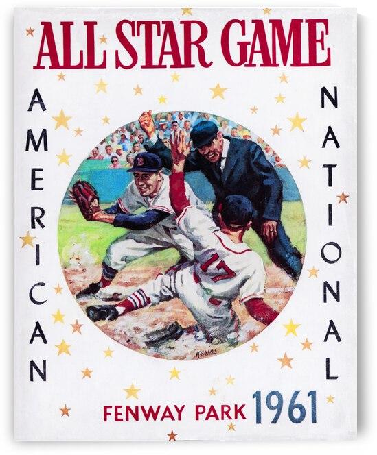 1961 Boston All-Star Game Baseball Program Art by Row One Brand