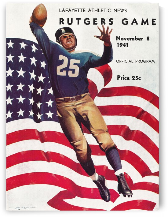 1941 Rutgers vs. Lafayette by Row One Brand